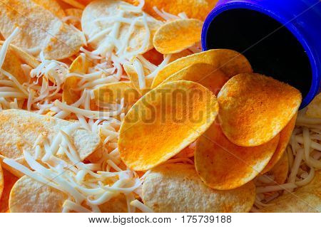 Crispy Potato Chips, Chips With Cheese
