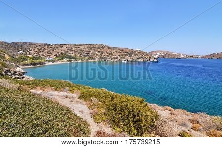landscape of Apokofto at Sifnos island Cyclades Greece