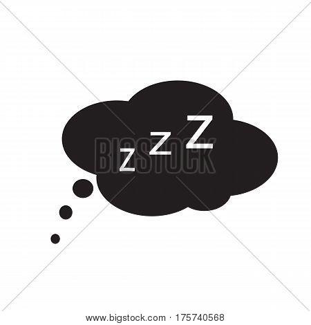 sleep icon on white background. sleep sign.