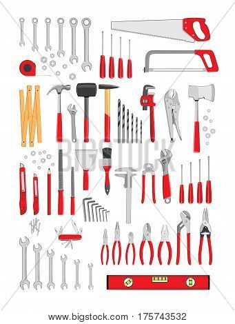 Repair and construction tools collection - do it yourself project