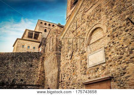 Torrechiara Castle In Emilia-romagna Province, Italy