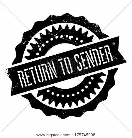 Return to sender stamp. Grunge design with dust scratches. Effects can be easily removed for a clean, crisp look. Color is easily changed.