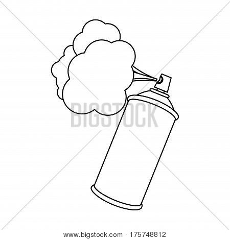 figure aerosol sprays with cloud icon, vector illustraction design
