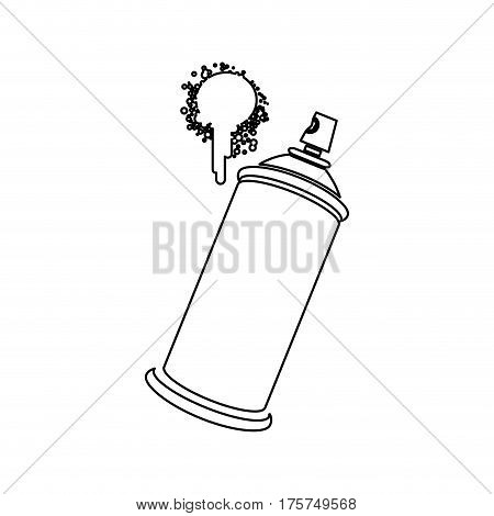 figure aerosol sprays with a stain icon, vector illustraction design