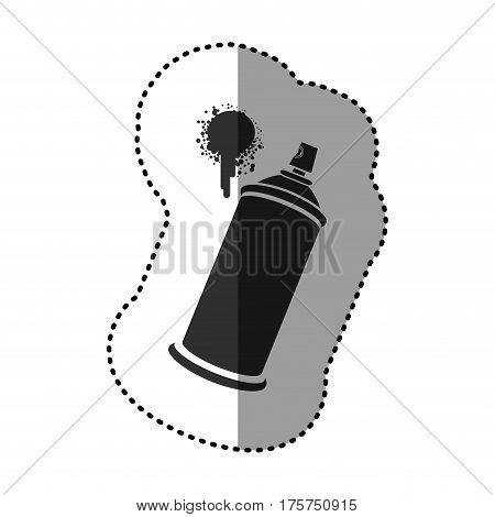 black aerosol sprays with a stain icon, vector illustraction design