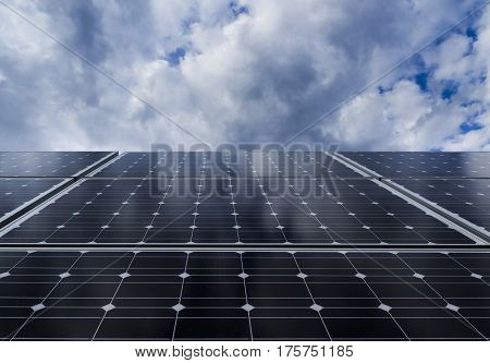 Solar panel. Photovoltaic energy from sun. Photovoltaic