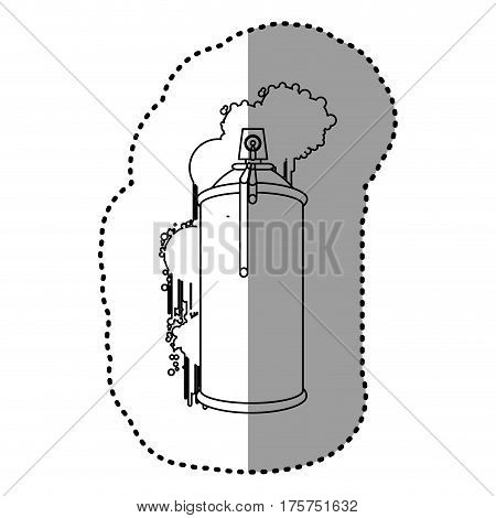 contour can aerosol sprays icon, vector illustraction design