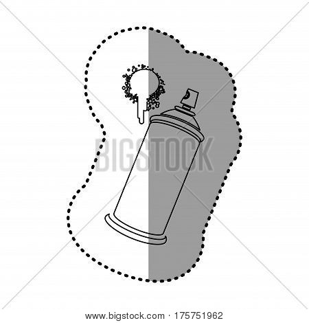 contour aerosol sprays with a stain icon, vector illustraction design
