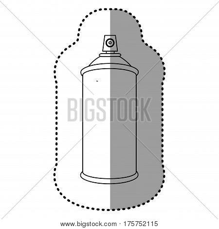 contour aerosol sprays icon, vector illustraction design