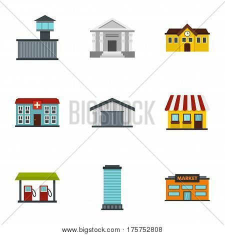 Infrastructure icons set. Flat illustration of 9 infrastructure vector icons for web