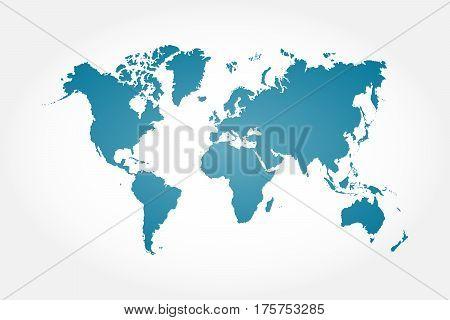 High detail world map . vignette background .