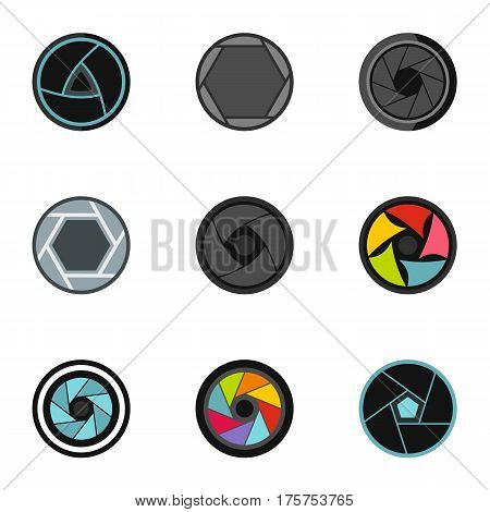 Photography icons set. Flat illustration of 9 photography vector icons for web