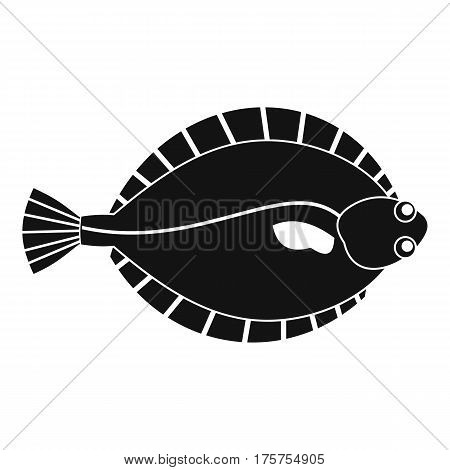Flounder icon. Simple illustration of flounder vector icon for web