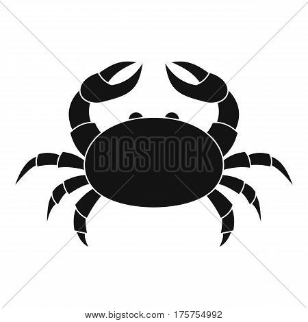 Raw crab icon. Simple illustration of raw crab vector icon for web