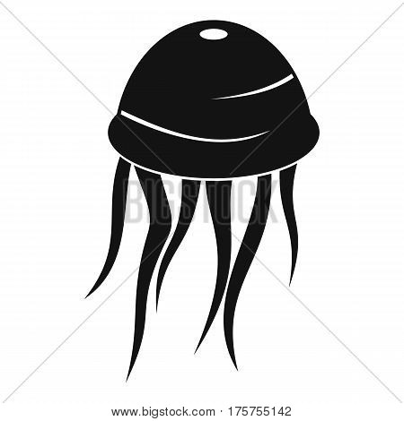 Jellyfish icon. Simple illustration of jellyfish vector icon for web