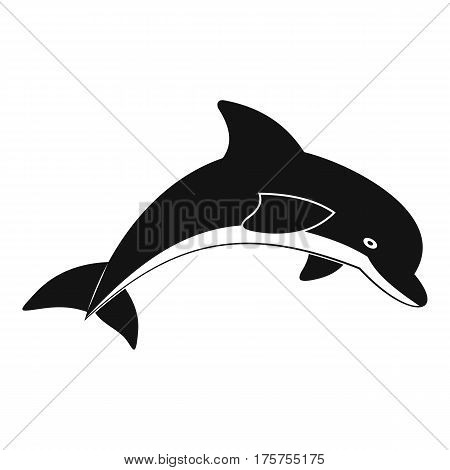 Jumping dolphin icon. Simple illustration of jumping dolphin vector icon for web