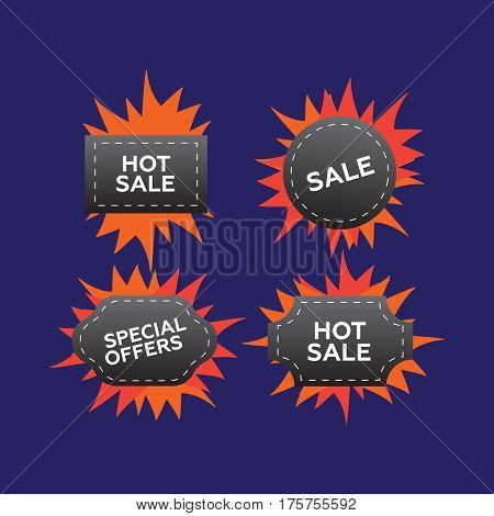 Hot price and sale deal and offer special tag or badge. Hot price vector