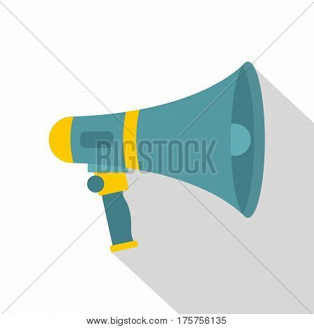 Loudspeaker icon. Flat illustration of loudspeaker vector icon for web isolated on white background