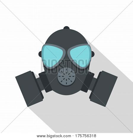 Gas mask icon. Flat illustration of gas mask vector icon for web isolated on white background
