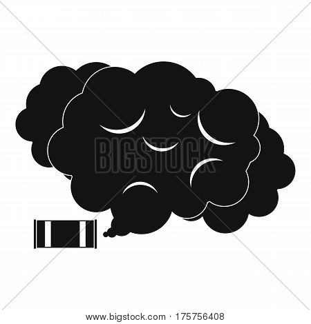Tear gas icon. Simple illustration of tear gas vector icon for web