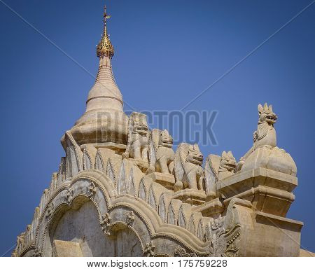 Detail Of Ananda Temple In Bagan, Myanmar