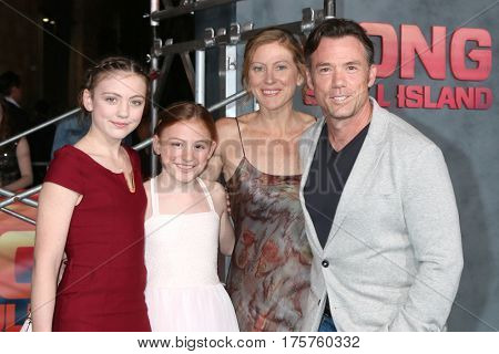 LOS ANGELES - MAR 8:  Terry Notary, Family at the