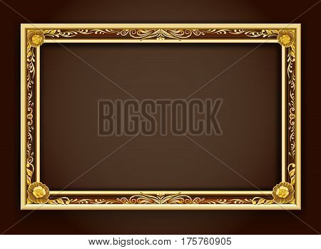 Gold frameframeframe borderPhoto frameframe vector illustration frame pattern gold backgroundFrame floral styleFrame louis style