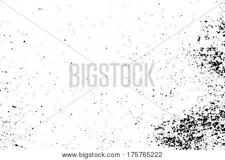 Distressed vector texture. Grungy surface of concrete wall monochrome background. Obsolete surface overlay image for vintage design. Shabby chic effect layer. Abstract worn texture. Subtle old texture