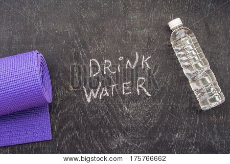 Drink More Water - Hydration Reminder - Handwriting On On A Chalk Board