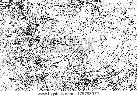 Distressed vector texture. Grungy surface of concrete wall monochrome background. Obsolete surface overlay image for vintage design. Shabby chic effect layer. Abstract worn texture. Grain texture