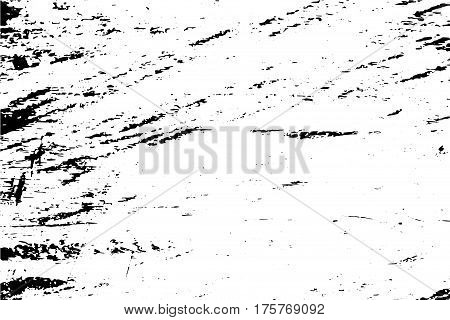 Grungy scratched texture vector overlay. Distressed surface of concrete wall. Obsolete texture for vintage effect. Shabby chic design. Abstract worn texture. Weathered stone texture. Black scratches