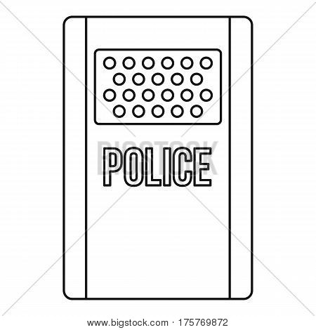 Police icon. Outline illustration of police vector icon for web