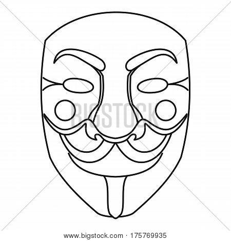 Crime mask icon. Outline illustration of crime mask vector icon for web