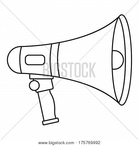 Loudspeaker icon. Outline illustration of loudspeaker vector icon for web