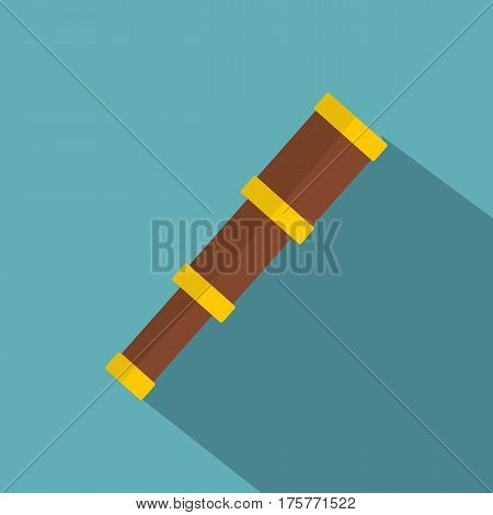 Spyglass icon. Flat illustration of spyglass vector icon for web