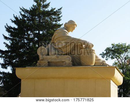 Greece antique women monument statue figure photo