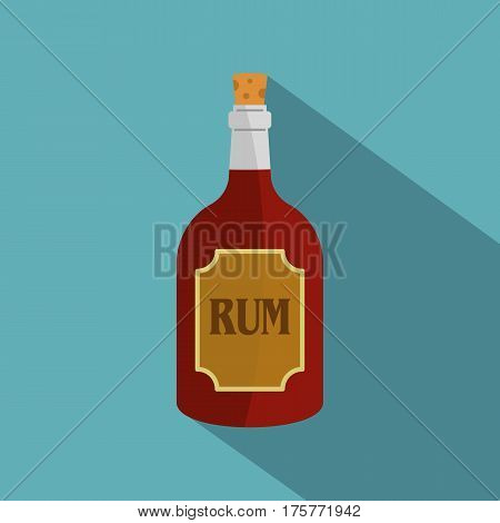 Rum icon. Flat illustration of rum vector icon for web