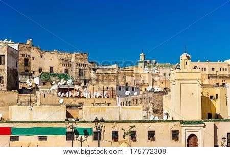 View of Medina of Fes from Rcif Square - Morocco