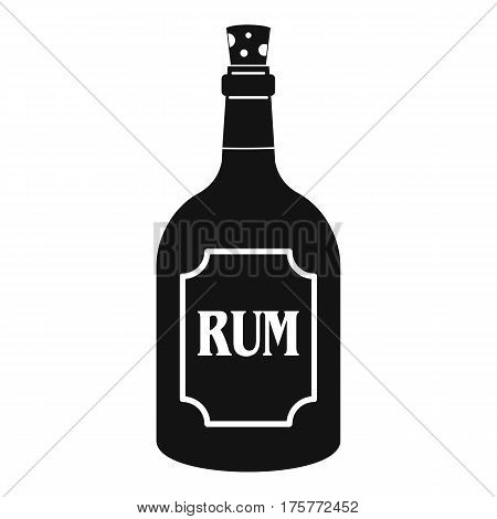 Rum icon. Simple illustration of rum vector icon for web