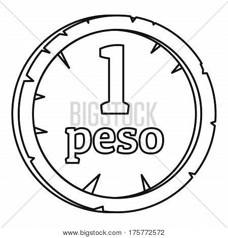 Peso icon. Outline illustration of peso vector icon for web