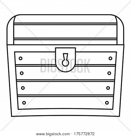 Chest icon. Outline illustration of chest vector icon for web