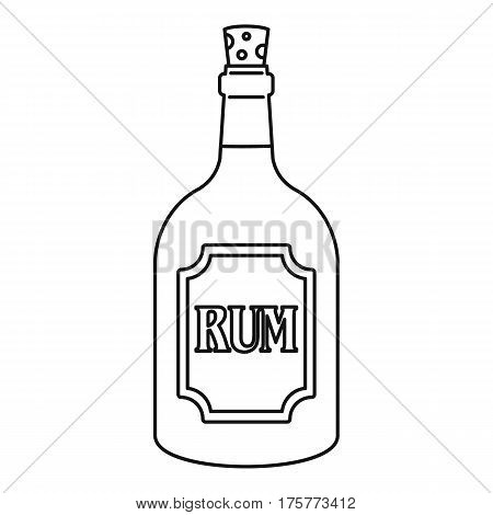 Rum icon. Outline illustration of rum vector icon for web