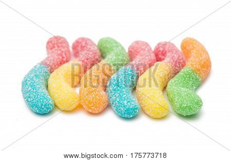 gummi chewy candies on a white background