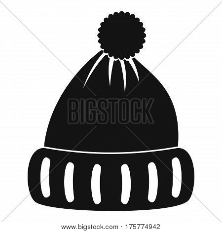 Woolen hat icon. Simple illustration of woolen hat vector icon for web