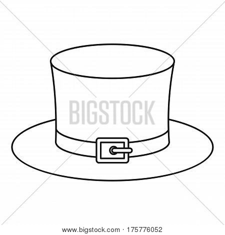 Leprechaun hat icon. Outline illustration of leprechaun hat vector icon for web