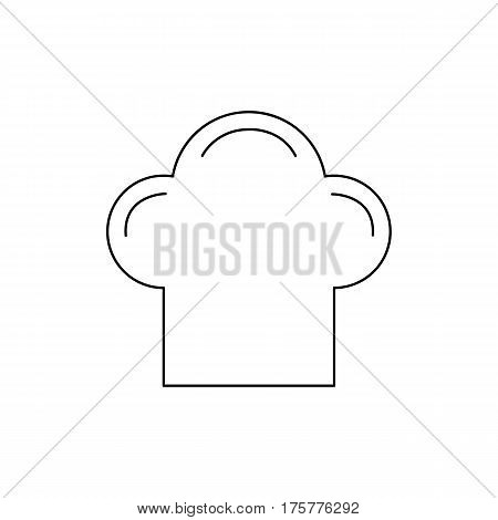 Flat line monochrome chef hat icon on white background. Isolated chef hat icon for use in variety of projects. Black and white vector chef hat icon for web sites and apps.