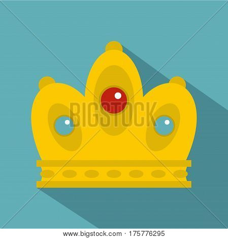 Queen crown icon. Flat illustration of queen crown vector icon for web