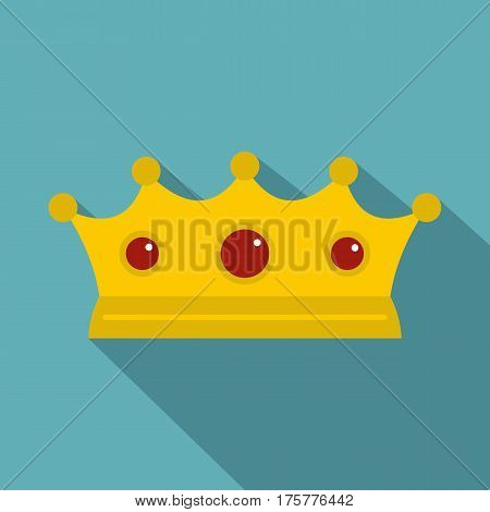 Jewelry crown icon. Flat illustration of jewelry crown vector icon for web