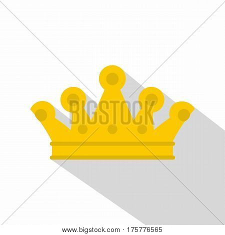 Royal crown icon. Flat illustration of royal crown vector icon for web