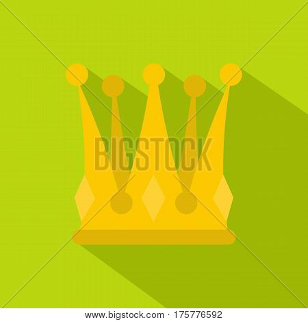 Kingly crown icon. Flat illustration of kingly crown vector icon for web